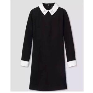 Victoria Beckham Dress Bunny Collar Black